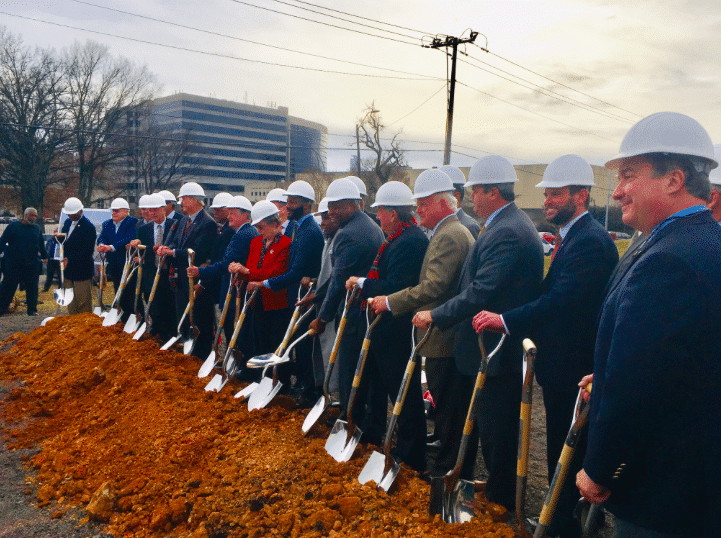 Community leaders celebrate regional cooperation at BJCC Multi-Use Stadium groundbreaking